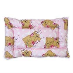 ПП Подушка 40*60 «Лебяжий пух» для новорожденных Маленькая Соня розовый