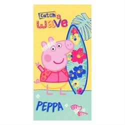 Махровое полотенце ВТ Свинка Пеппа Серфер м1179 M 60*120