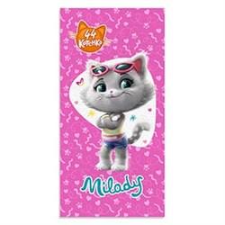 Махровое полотенце ВТ 44 Котёнка Миледи м1187 M 60*120