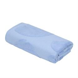 Махровое полотенце СТ Марина м5030_01 L 70*130 син