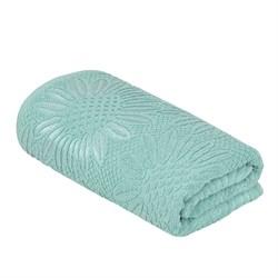 Махровое полотенце УЗ Фиона м7003_09 L 70*130 аква