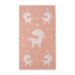 Махровое полотенце СТ Единорожка м5035_02 S 30*60 роз