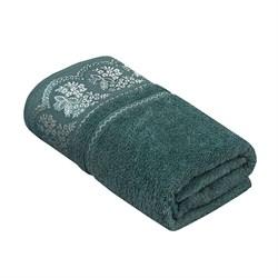 Махровое полотенце УЗ Флора м7001_09 L 70*130 аква
