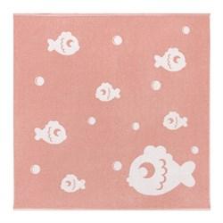 Махровое полотенце СТ Рыбки м5034_02 XL 100*100 роз