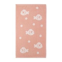 Махровое полотенце СТ Рыбки м5034_02 S 30*60 роз