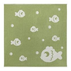 Махровое полотенце СТ Рыбки м5034_03 XL 100*100 зел