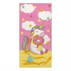 Махровое полотенце ВТ Единорог м1150_02 M 60*120 роз