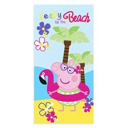 Махровое полотенце ВТ Свинка Пеппа Пляж м1178 M 60*120