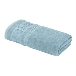 Махровое полотенце ТР Бамия м8003_01  L 70*140 син